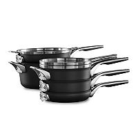 Deals on Calphalon Premier Space Saving 8-pc. Nonstick Cookware Set