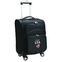Denco USA Olympics Team 22-Inch Expandable Spinner Carry-On