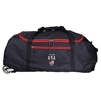 USA Olympics Team Collapsible Wheeled Duffle Bag