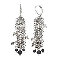 Simply Vera Vera Wang Nickel Free Beaded Circle Link Drop Earrings