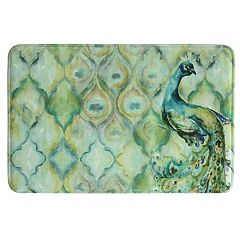 Bacova Peacock Memory Foam Bath Rug