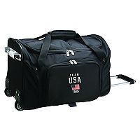 Denco USA Olympics Team 21-Inch Wheeled Duffel Bag