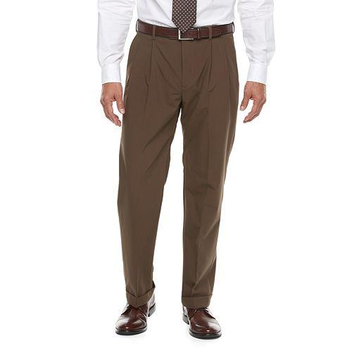 Big & Tall Croft & Barrow® True Comfort 4 Way Stretch Classic Fit Pleated Dress Pants by Big & Tall Croft & Barrow