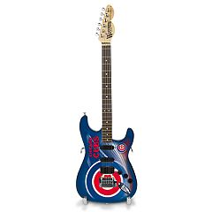 Chicago Cubs NorthEnder Collector Series Mini Replica Electric Guitar