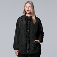 Plus Size Simply Vera Vera Wang 10th Anniversary Beaded Luxe Windbreaker