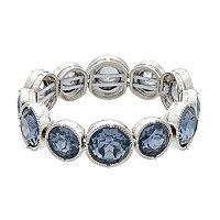 Simply Vera Vera Wang Blue Round Stone Stretch Bracelet