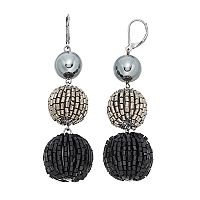 Simply Vera Vera Wang Tube Bead Nickel Free Triple Drop Earrings