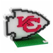 Forever Collectibles Kansas City Chiefs BRXLZ 3D Logo Puzzle Set