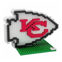 Forever Collectibles Kansas City Chiefs BRXLZ 3D Logo Puzzle Set