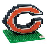 Forever Collectibles Chicago Bears BRXLZ 3D Logo Puzzle Set