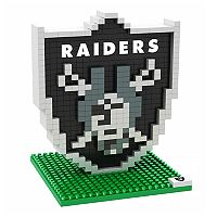 Forever Collectibles Oakland Raiders BRXLZ 3D Logo Puzzle Set
