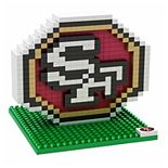 Forever Collectibles San Francisco 49ers BRXLZ 3D Logo Puzzle Set