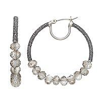 Simply Vera Vera Wang Nickel Free Beaded Hoop Earrings