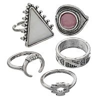 Geometric & Tribal Ring Set