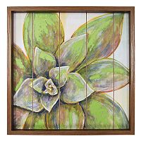 New View Succulent Framed Wall Art