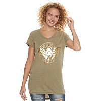 Juniors' DC Comics Wonder Woman Logo Foil Burnout Graphic Tee