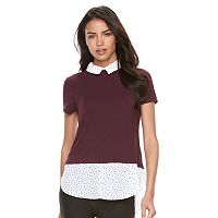 Women's ELLE™ Mock-Layer Top