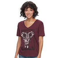 Juniors' Fifth Sun Floral Elephant Graphic Tee
