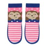 Baby Girl Jumping Beans® Monkey Striped Slipper Socks