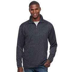 Men's Haggar Regular-Fit Marled Easy-Care Quarter-Zip Pullover