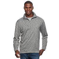 Men's Haggar Regular-Fit Marled Easy-Care Quarter-Zip Pullover