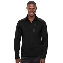 Men's HKE Classic-Fit Space-Dyed Performance Quarter-Zip Pullover