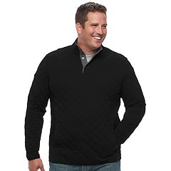 Big & Tall Croft & Barrow® Classic-Fit Outdoor Quilted Mockneck Pullover