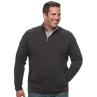 Big & Tall Croft & Barrow® Classic-Fit Quilted Mockneck Pullover