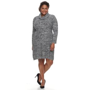 Plus Size Dana Buchman Mitered Sweater Dress