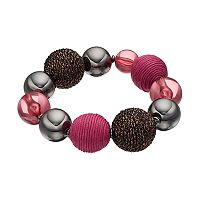 Red Thread Wrapped Bead Stretch Bracelet