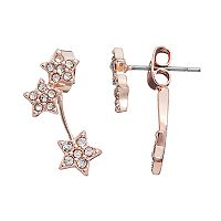 LC Lauren Conrad Runway Collection Star Front Back Earrings