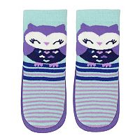 Baby Girl Jumping Beans® Owl Striped Slipper Socks