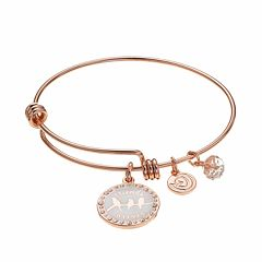 love this life Crystal 'Friends Forever' Birds Charm Bangle Bracelet