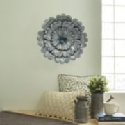 Stratton Home Decor Galvanized Flower Burst Wall Decor
