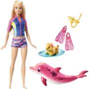 Barbie® Blonde Hair Barbie Dolphin Magic Snorkel Fun Friends