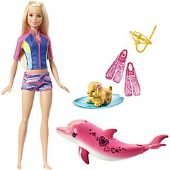 Barbie® Blonde Hair Barbie Dolphin Magic Snorkel Fun Friends