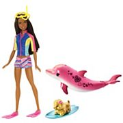 Barbie® Brunette Hair Barbie Dolphin Magic Snorkel Fun Friends