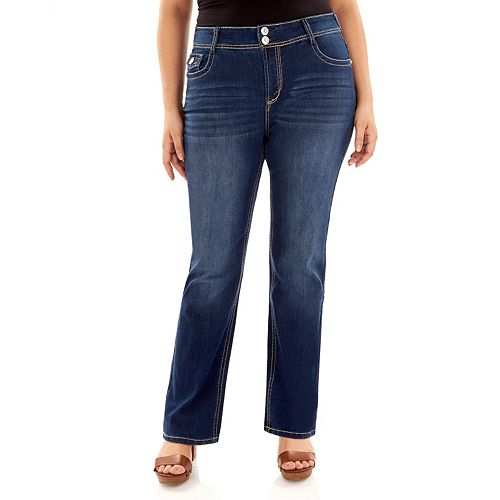 Juniors' Plus Size Wallflower Luscious Curvy Bootcut Jeans