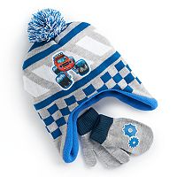 Toddler Boy Blaze & The Monster Machines Trapper Hat & Mittens Set