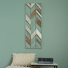 Stratton Home Decor Geometric Metal & Wood Wall Decor