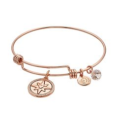 love this life 'The Best is Yet to Come' Compass Bangle Bracelet