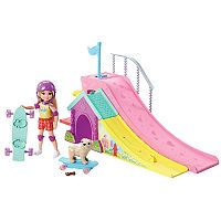 Barbie® Club Chelsea Skate Park Doll & Puppy Set
