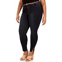 Juniors' Plus Size Wallflower Irresistible Skinny Jeans