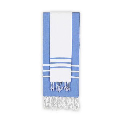 Linum Home Textiles Alara Pestemal Two-Tone Beach Towel Set