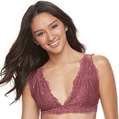 Juniors' It's Just A Kiss Lace Bralette