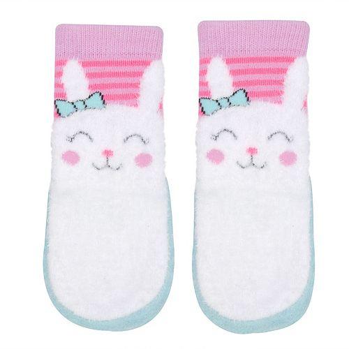 Baby Girl Jumping Beans® Bunny Slipper Socks
