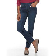 Women's Croft & Barrow® Perfectly Slimming Denim Straight-Leg Jeans