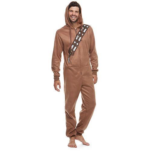 Men's Star Wars Chewbacca Microfleece Hooded Union Suit