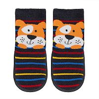 Baby Boy Jumping Beans® Puppy Striped Slipper Socks