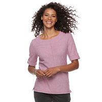 Women's Croft & Barrow® Mitered Pique Top